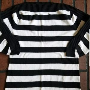 New York and company striped shirt top small
